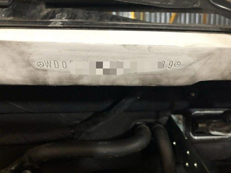 На Закарпатті прикордонники затримали мікроавтобус з перебитим номером кузова