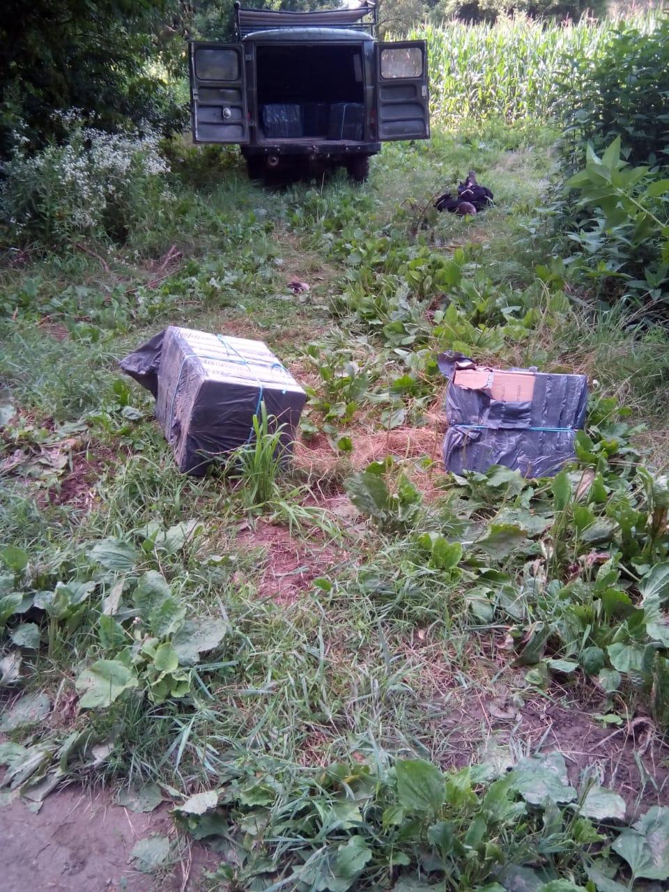 На Берегівщині затримали тютюнових контрабандистів