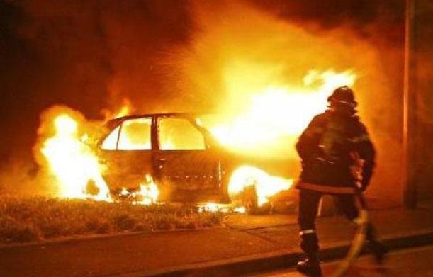 На Тячівщині згоріла іномарка
